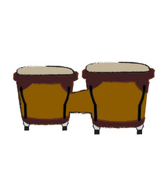 Isolated bongo drums vector
