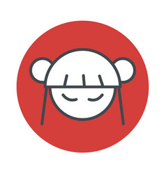 japan anime manga girl icon isolated vector image