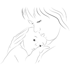 Mother and newborn vector image