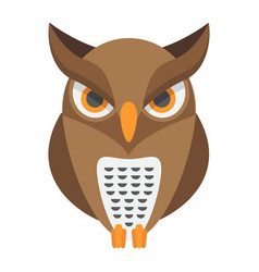 Owl flat icon halloween and scary animal sign vector