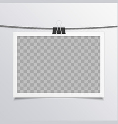 photo frame on rope vector image