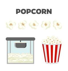 Popcorn set colorful constructor vector