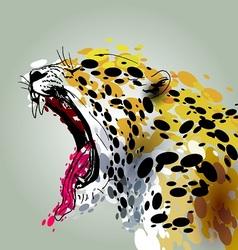 Roaring jaguar vector