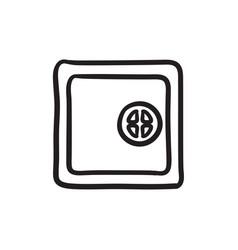 Safe sketch icon vector