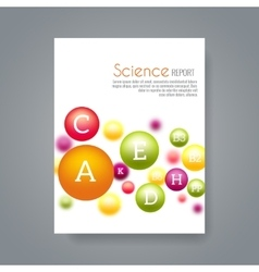 Science or medical brochure cover template with vector image vector image