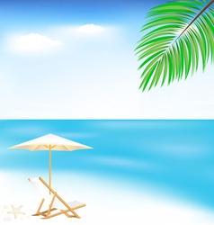 Sea and beach vector