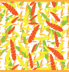 seamless pattern background with autumn leaves on vector image