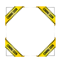 set of ribbons with text coming soon vector image