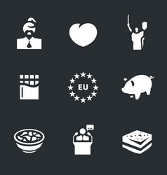 set of ukraine icons vector image vector image
