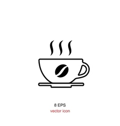 Simple coffee icon isolated on white background vector image vector image