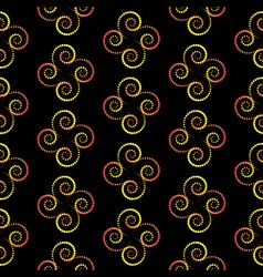 Spiral seamless pattern vector image vector image