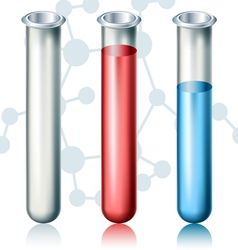 Test tube set vector image