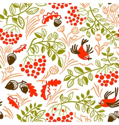 Fall season seamless pattern vector image