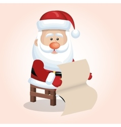 Santa claus christmas isolated vector