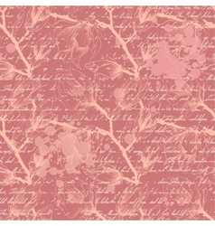 Vintage pink seamless pattern with magnolia vector
