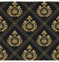 Victorian regal pattern seamless baroque vector