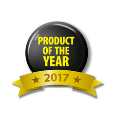 black circle with text product of the year vector image