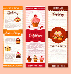 Cake bakery and pastry dessert banner template vector