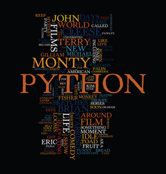 Monty python top comedy films text background vector