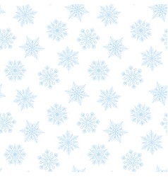 White background with blue snowflakes vector