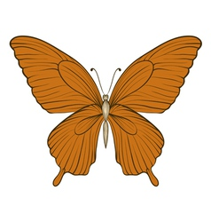 Vintage butterfly isolated on white background vector