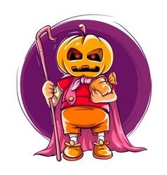 Child in halloween costume vector