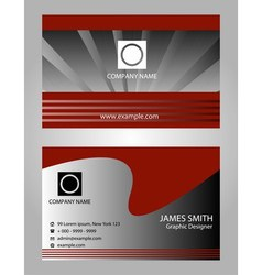 Abstract elegant business card template vector