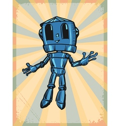 Vintage grunge background with robot vector