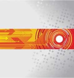 circle and arrow background vector image