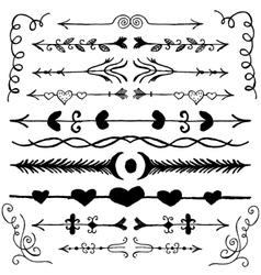 Hand Drawn Doodle Design Elements vector image