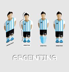 Argentina soccer team sportswear template vector