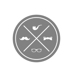 Hipster symbol vector