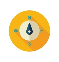 Compass flat icon meteorology weather vector