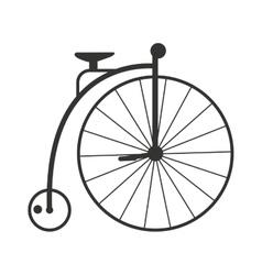 Retro style vintage bike nineteenth century vector