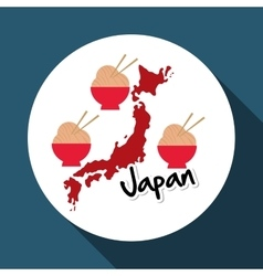 Flat of japan design vector
