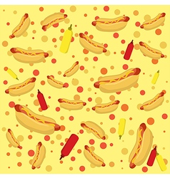 Hotdog seamless pattern vector