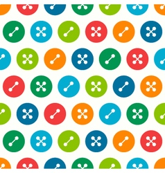 Buttons seamless pattern vector