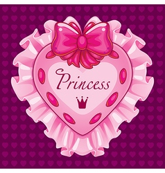 Little princess pink card vector