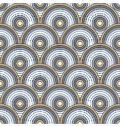 Seamless pattern of semi circles vector