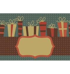 Vintage gift frame vector image