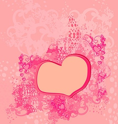 abstract romantic background with hearts vector image