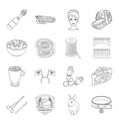 Atelier sports art and other web icon in outline vector