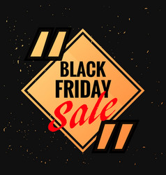 Black friday symbol with sale discount option and vector