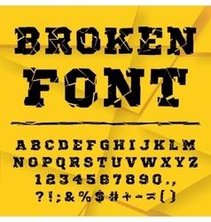Broken alphabet full set vector