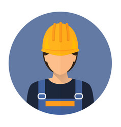 Builder builder in protective clothing and helmet vector