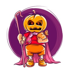 Child in halloween costume vector