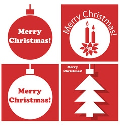 Christmas tree toys with inscription vector image vector image