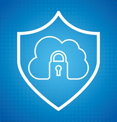 cloud security vector image vector image