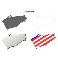 Cumberland map icon set vector