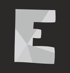 E alphabet letter isolated on black background vector